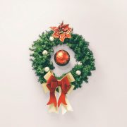holiday wreath with ornament