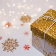 gold and silver christmas gift