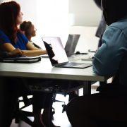 employees as a desk