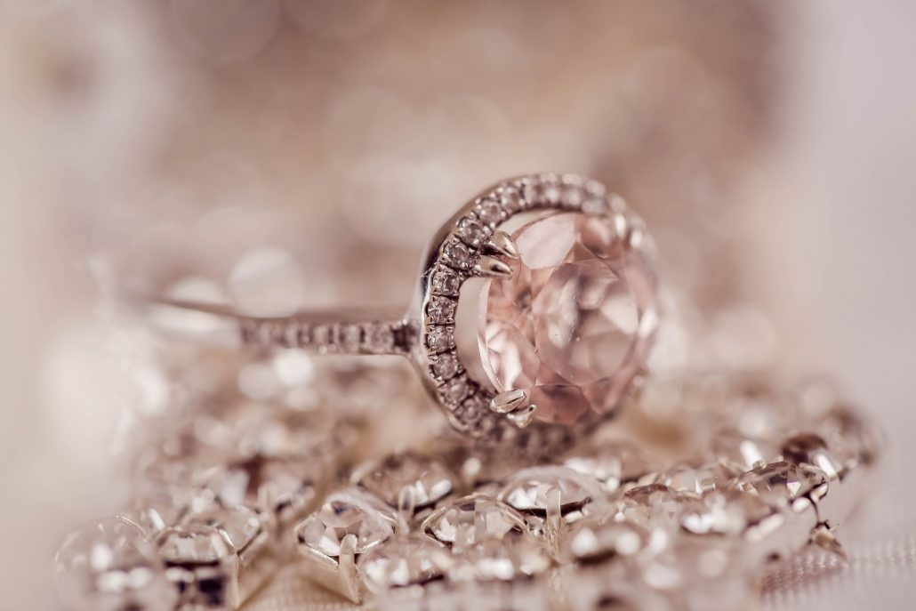Pink jewelry ring