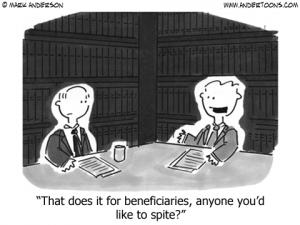 Beneficiary cartoon