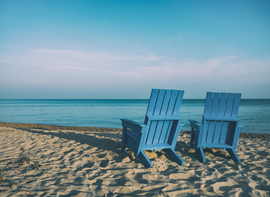 two chairs on beach