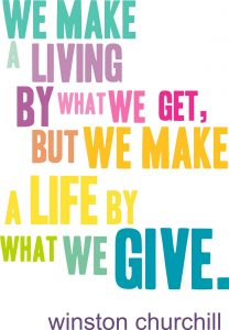 Giving quote