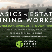 Gordon Fischer Basics of Estate Planning Workshop
