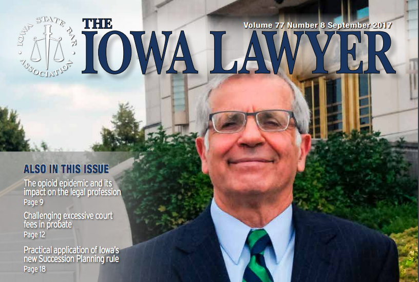 Iowa Lawyer front of magazine