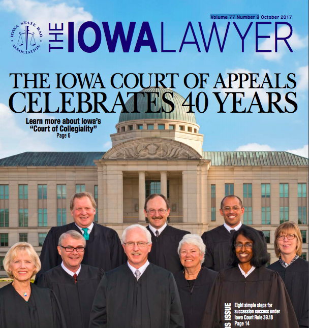 The Iowa Lawyer October 2017