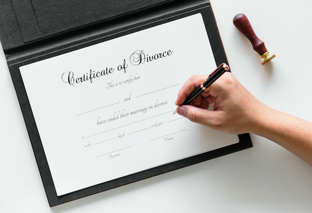 cert of divorce