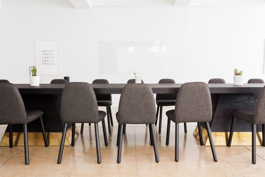 nonprofit board room
