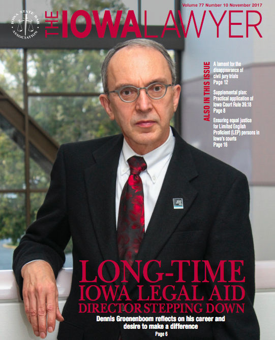The Iowa Lawyer magazine cover November 2017
