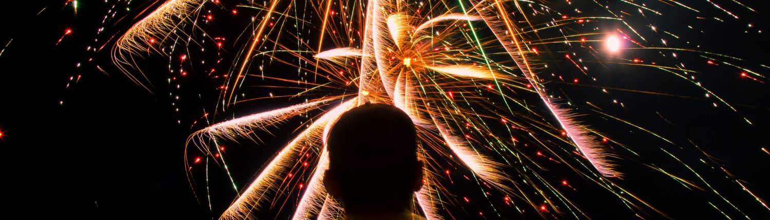 man with fireworks - charitable giving