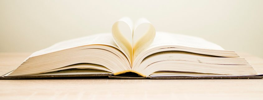 heart in pages of book