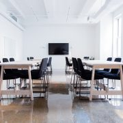 two boardroom tables