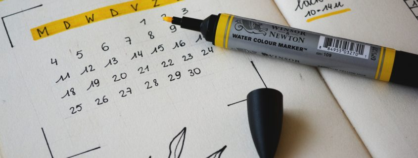 monthly calendar highlighter