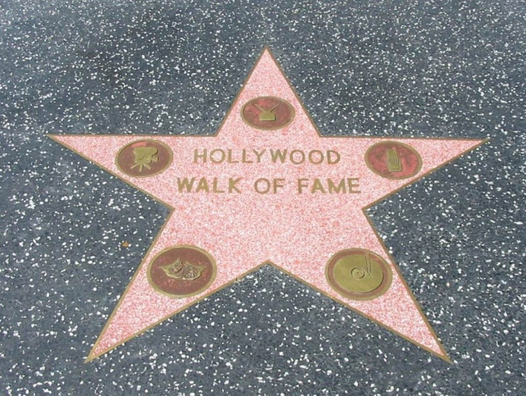 hollywood walk of fame star