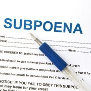 subpoena and pen