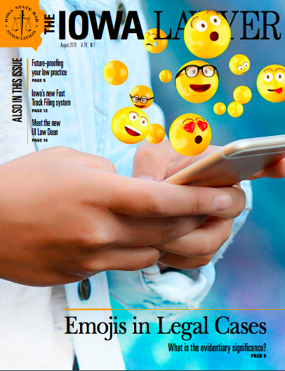 Iowa Lawyer August 2018 cover