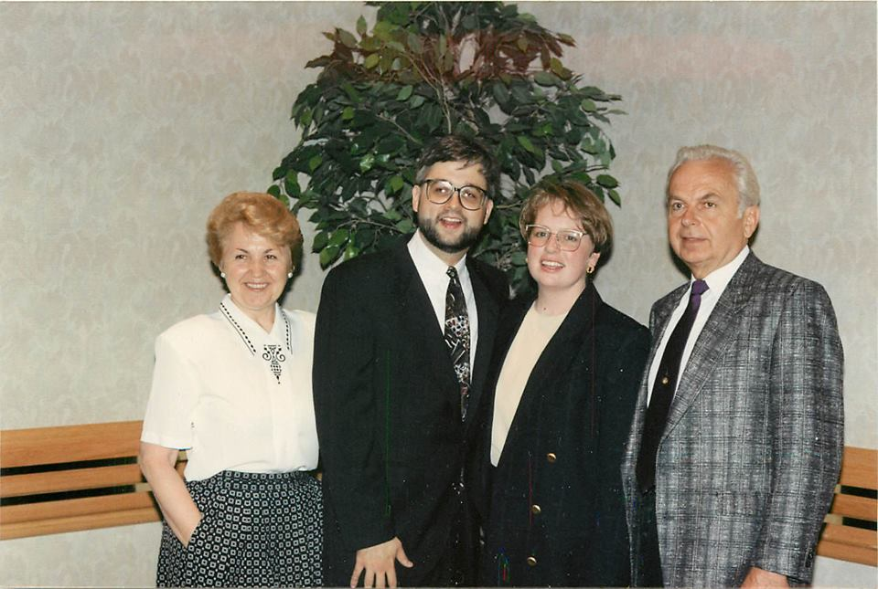 Gordon with family at bar swearing in