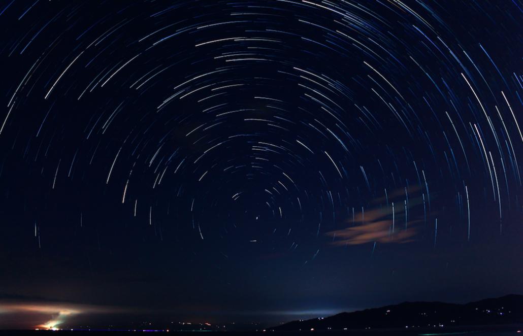 timelapse of stars
