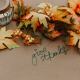 give thanks table with autumn leaves