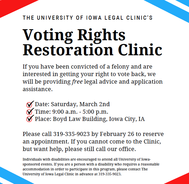 voter rights restoration clinic