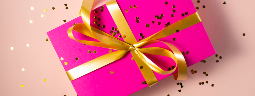 planned gift pink bow