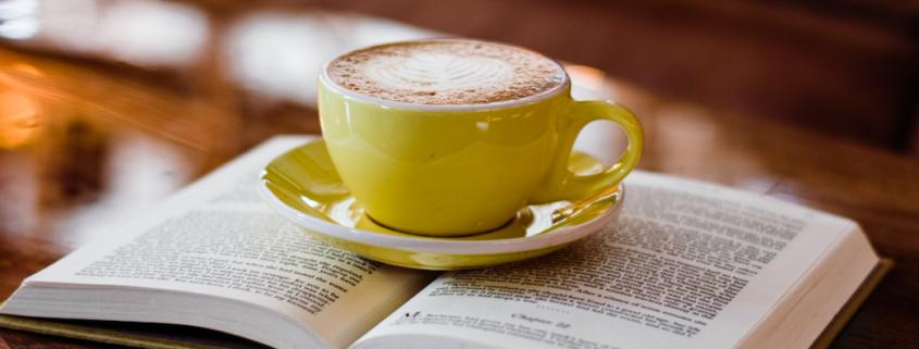 GoFisch book club with coffee mug